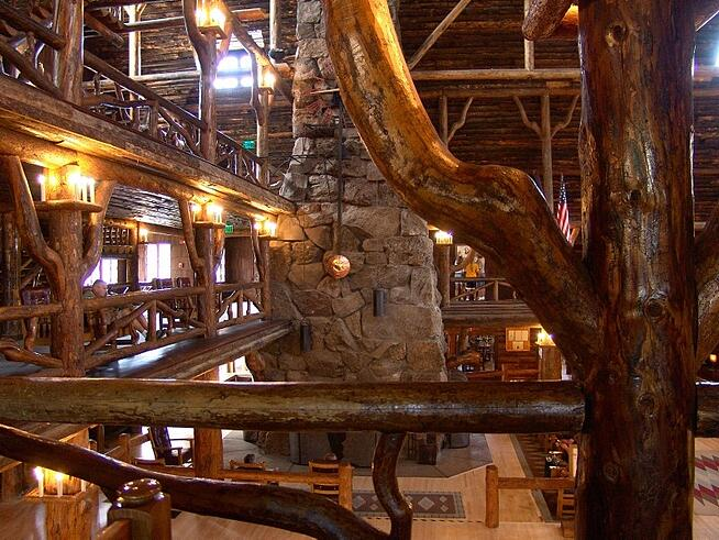 Old Faithful Inn at Yellowstone National Park