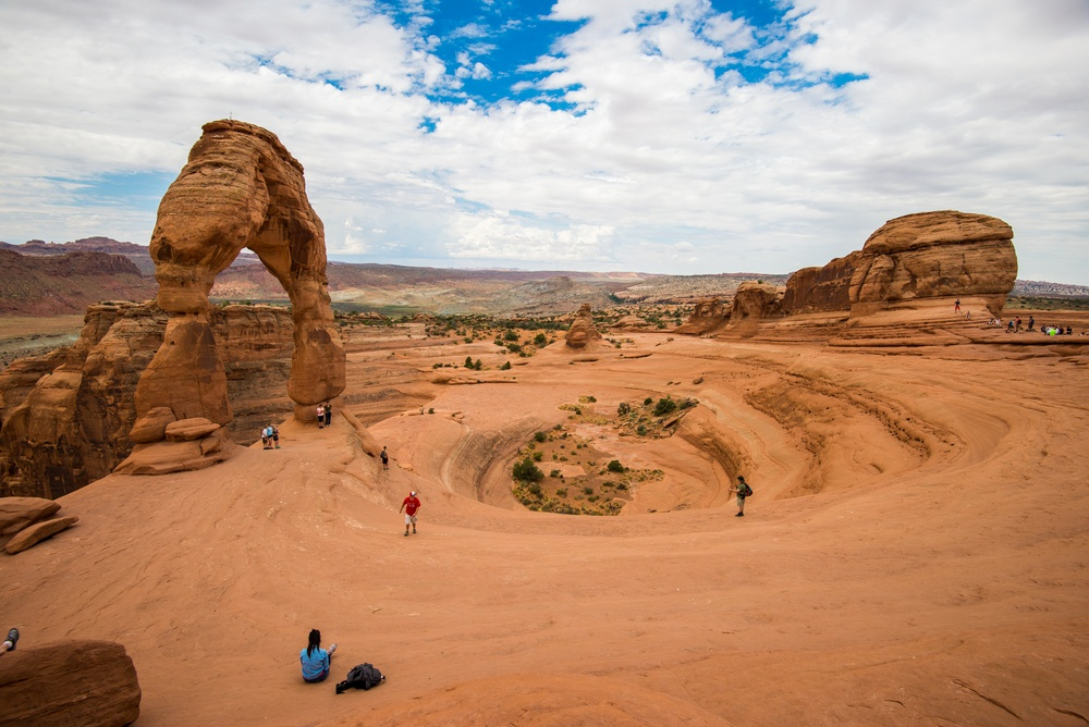 Delicate Arch and surrounding landscape, Arches National Park