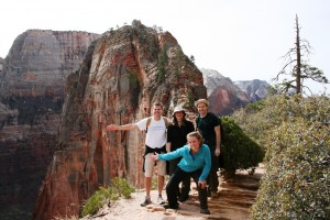 Grand American Adventures Group at Angels Landing