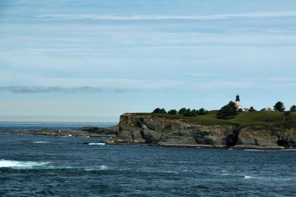 Tatoosh Island and its lighthouse