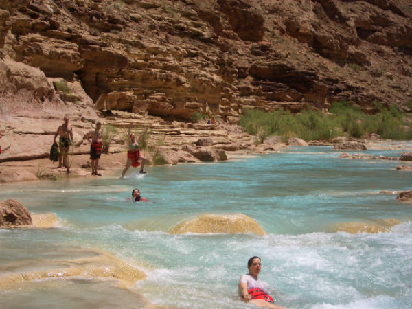 Swimming in side canyons