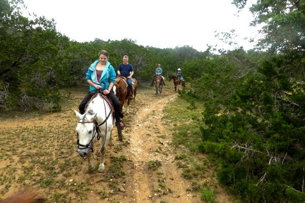 horse riding in Texas ranch