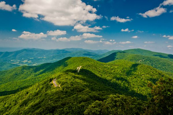 Rolling green hills of Appalachian Trail