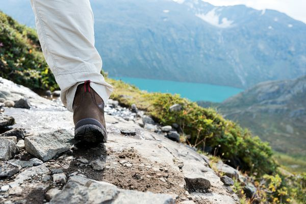 hiking shoes outdoors