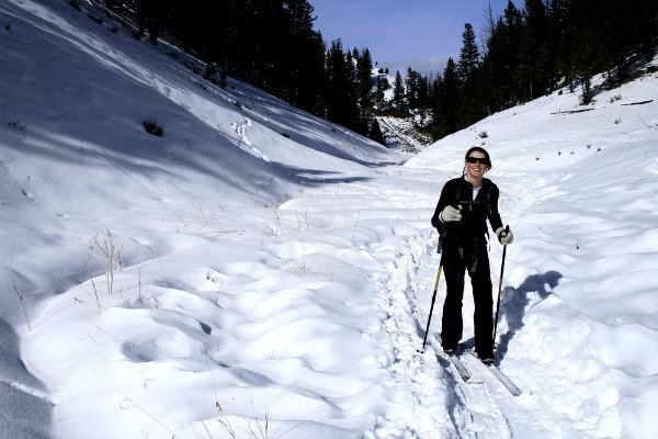 Snow shoeing in Yellowstone