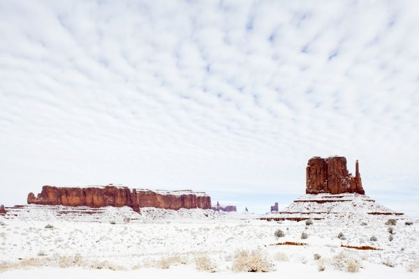 Winter in Monument Valley