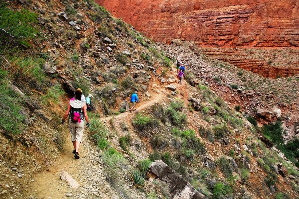 HIking the side canyons