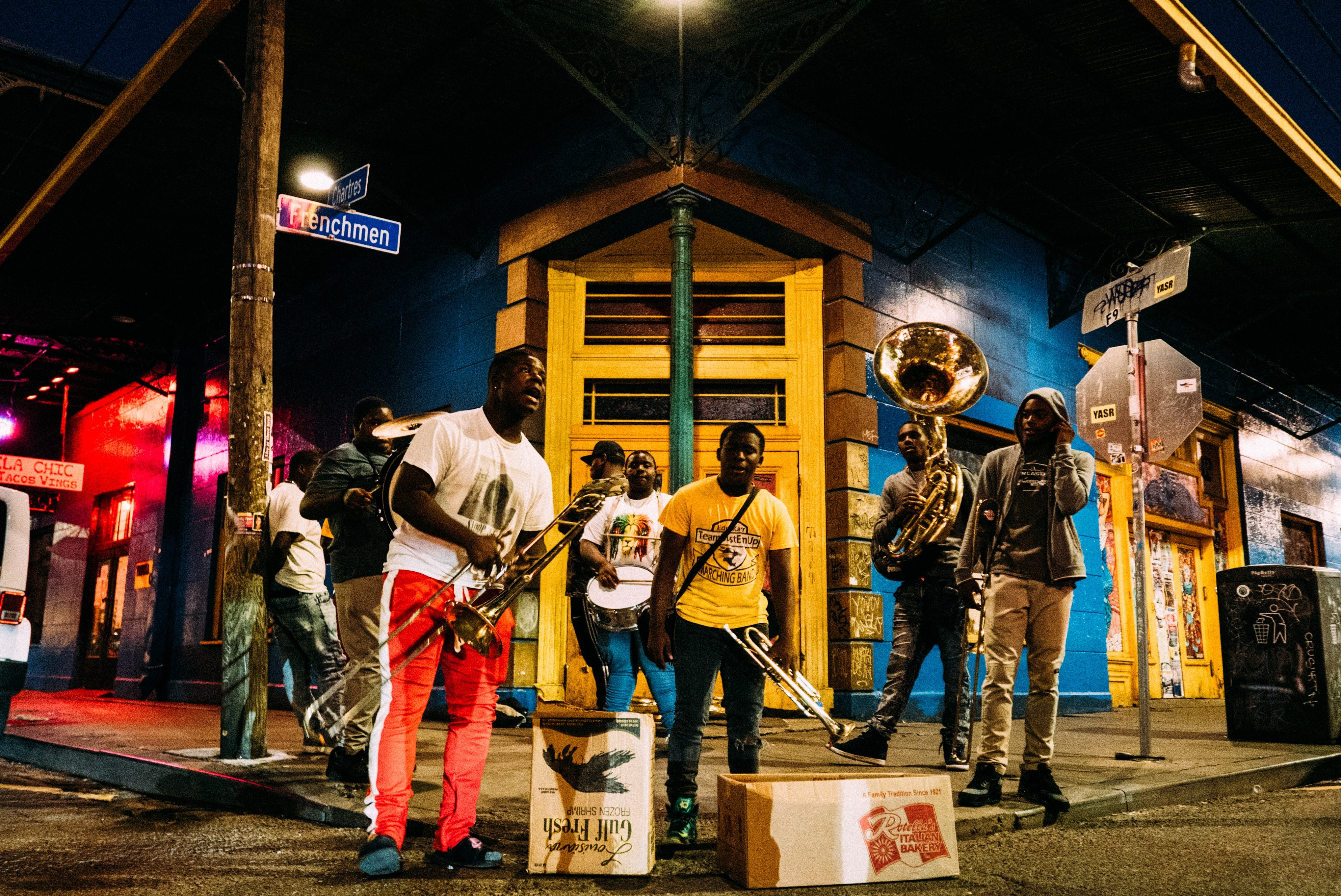 Jazz musicians on Frenchmen Street, New Orleans
