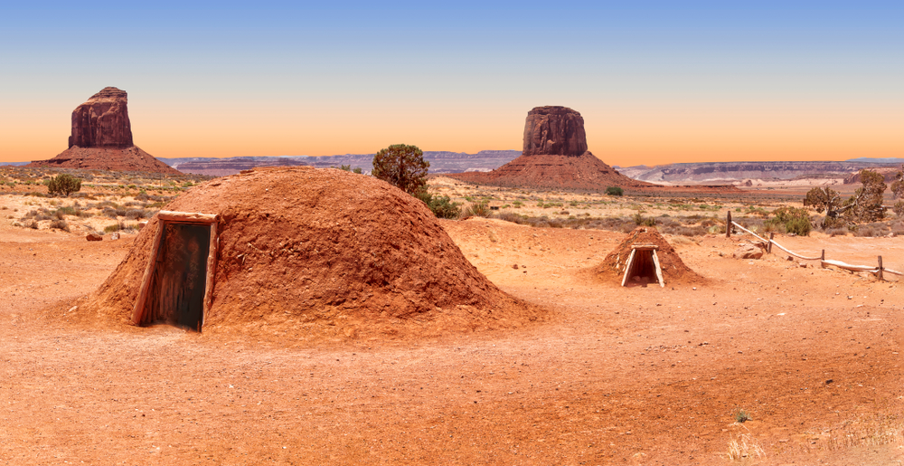 Hogan hut in Monument Valley
