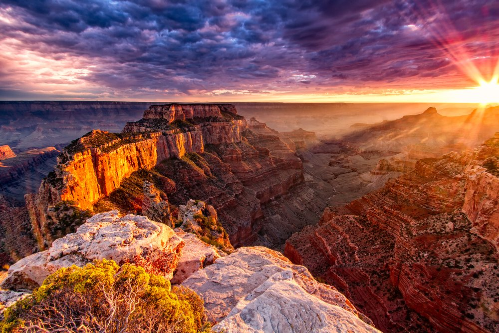 Grand Canyon sunset view