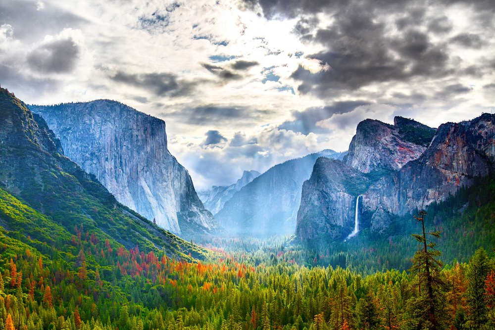 View through Yosemite Valley