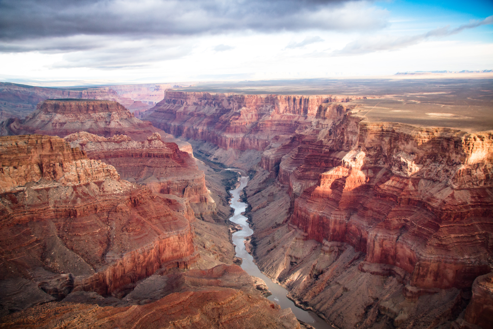 View of Colorado River through the Grand Canyon